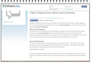 Blog on Cloud Computing