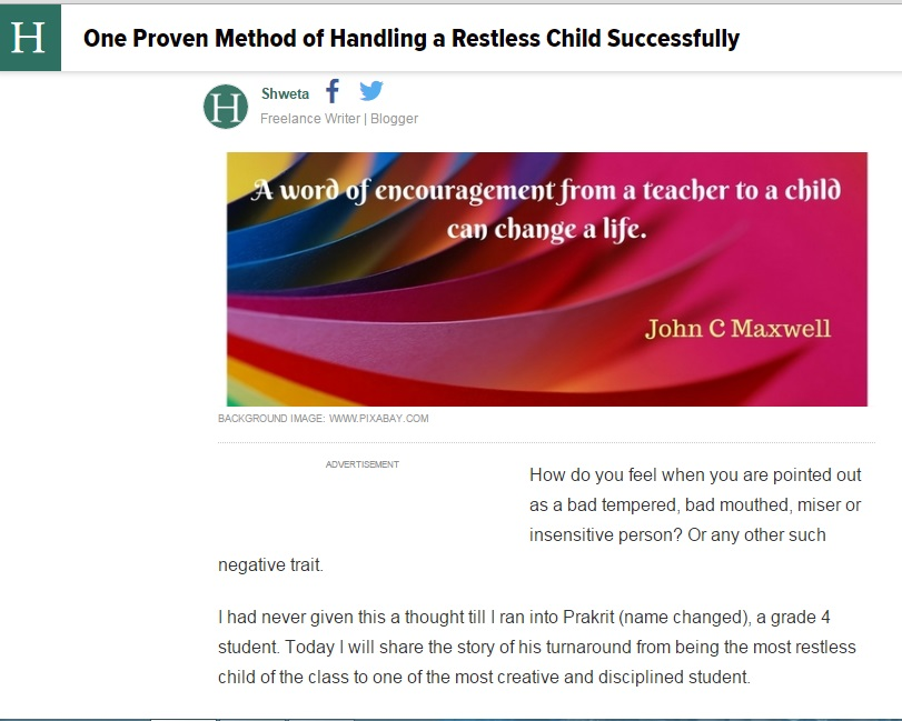 Handling Restless Children
