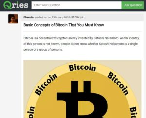 Article on Bitcoin Basics